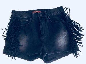 7 For all Mankind Shorts mit Ledereinsatz High waist - Festival Luxus Shorts