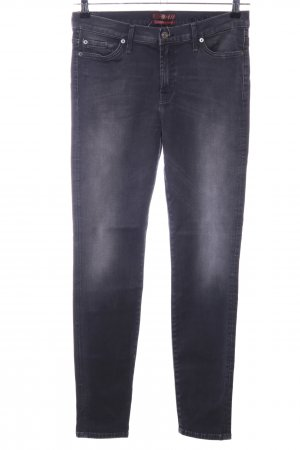 7 For All Mankind Skinny Jeans schwarz-hellgrau Casual-Look