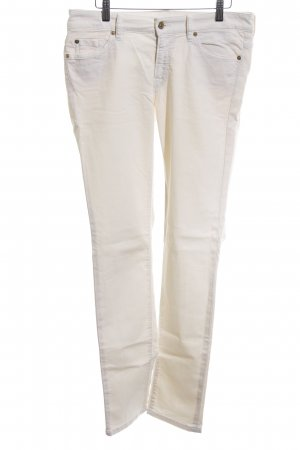 7 For All Mankind Vaquero skinny crema-blanco puro look casual