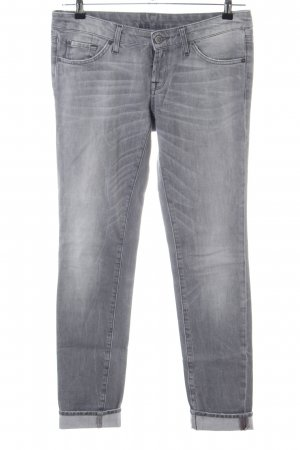 7 For All Mankind Jeans skinny gris clair style décontracté