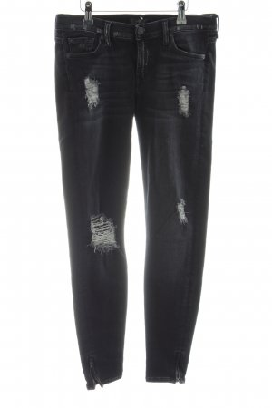7 For All Mankind Skinny Jeans black casual look