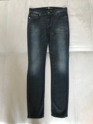 7 For All Mankind Vaquero skinny azul oscuro Algodón