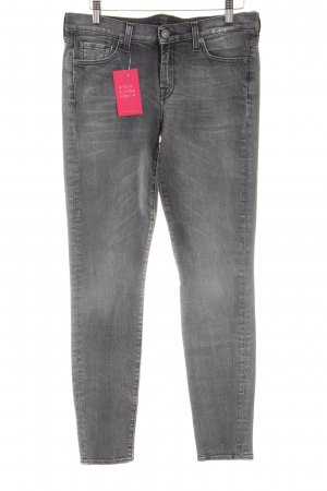 7 For All Mankind Skinny Jeans light grey allover print casual look
