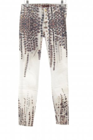7 For All Mankind Vaquero skinny estampado con diseño abstracto