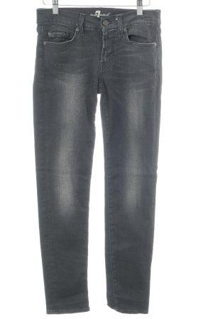7 For All Mankind Skinny Jeans anthrazit-grau Used-Optik