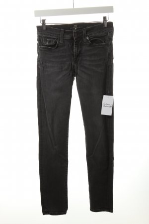 7 For All Mankind Skinny Jeans anthracite mixture fibre