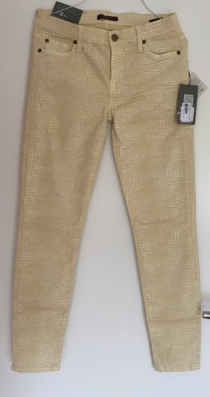 7 For All Mankind Skinny Jeans cream
