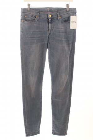 7 For All Mankind Skinny Jeans blau-blauviolett Casual-Look
