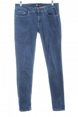 7 For All Mankind Vaquero skinny azul lavado con ácido