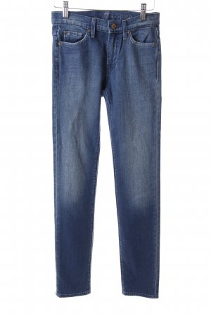 7 For All Mankind Skinny Jeans blau Washed-Optik
