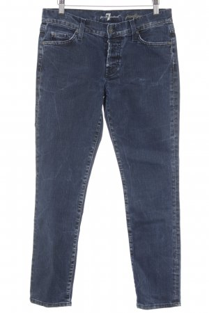 7 For All Mankind Skinny Jeans blau-stahlblau Casual-Look