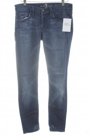 7 For All Mankind Skinny Jeans blau Used-Optik