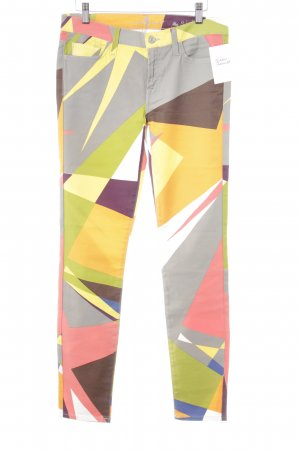 7 For All Mankind Skinny Jeans color blocking extravagant style