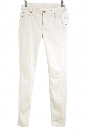 7 For All Mankind Skinny Jeans creme College-Look