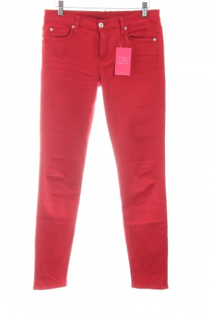 7 For All Mankind Skinny jeans rood casual uitstraling