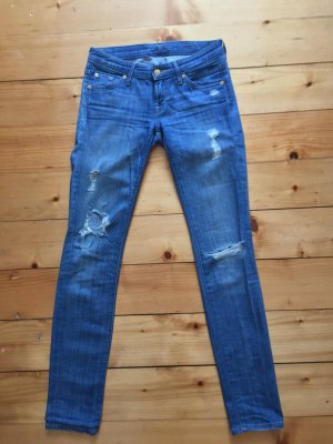 7 for all Mankind skinny Jeans destroyed look