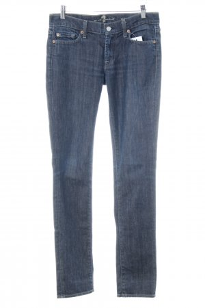 7 For All Mankind Skinny Jeans dark blue casual look