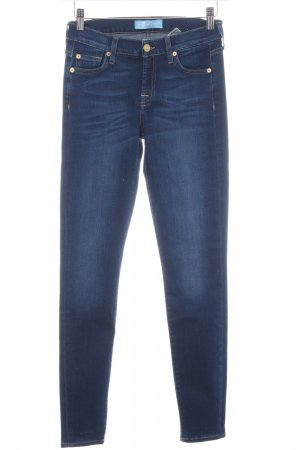 7 For All Mankind Skinny jeans donkerblauw casual uitstraling