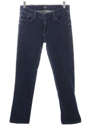 7 For All Mankind Skinny Jeans dunkelblau Jeans-Optik