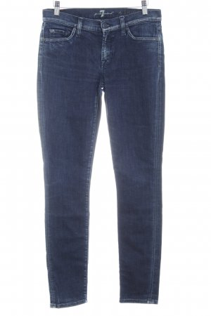 7 For All Mankind Skinny jeans donkerblauw Jeans-look