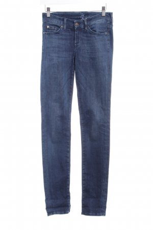 7 For All Mankind Vaquero skinny azul oscuro Logotipo bordado
