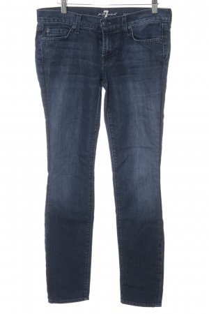 7 For All Mankind Skinny Jeans dark blue flecked casual look