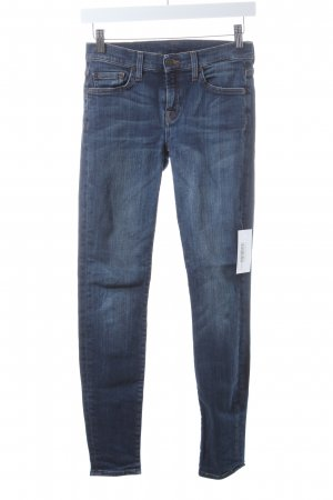 7 For All Mankind Skinny Jeans dunkelblau Metallelemente
