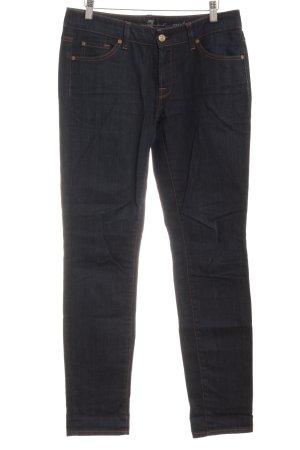 7 For All Mankind Skinny Jeans dunkelblau schlichter Stil