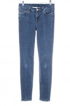 7 For All Mankind Skinny Jeans dark blue athletic style
