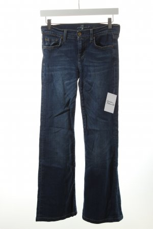 7 For All Mankind Skinny Jeans dunkelblau Street-Fashion-Look