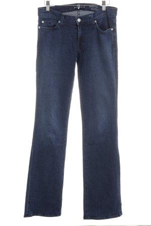 7 For All Mankind Skinny Jeans dunkelblau Street-Fashion-Look