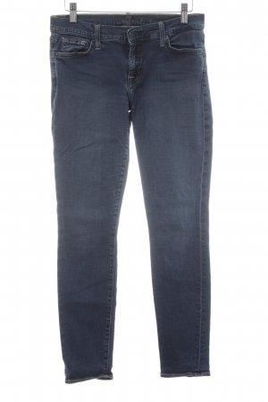 7 For All Mankind Jeans skinny blu scuro-bianco stile casual