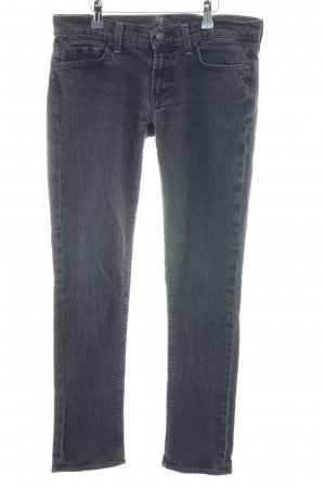 7 For All Mankind Vaquero skinny gris oscuro-gris antracita look casual