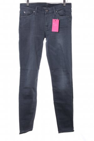 7 For All Mankind Vaquero skinny gris oscuro look casual