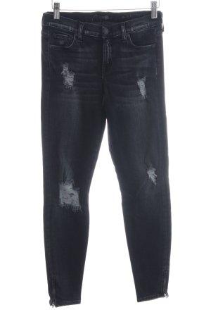 7 For All Mankind Skinny Jeans dunkelgrau-grau Casual-Look