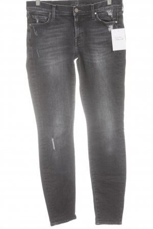 7 For All Mankind Skinny Jeans dunkelgrau-graublau Casual-Look