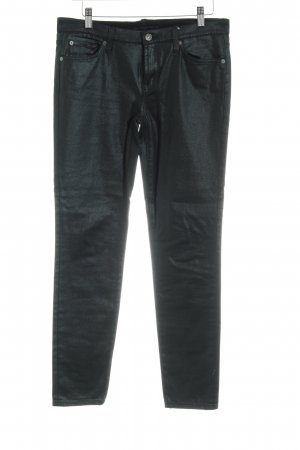 7 For All Mankind Vaquero skinny verde oscuro Estilo ciclista