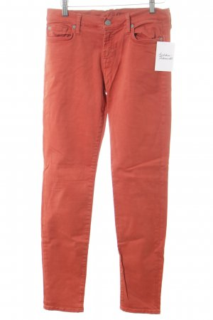 7 For All Mankind Skinny Jeans dunkelorange Casual-Look
