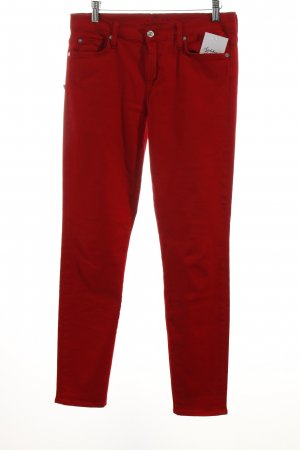 7 For All Mankind Skinny Jeans dunkelrot Casual-Look