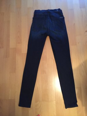 7 For All Mankind Jeans skinny bleu foncé