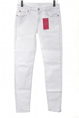 7 For All Mankind Skinny Jeans weiß Casual-Look