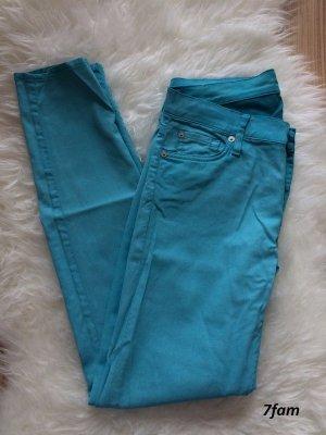 7 for all Mankind Skinny Jeans Gr. 28 M/38 türkis blau NEU Frühling Sommer Hose Leggings Röhre
