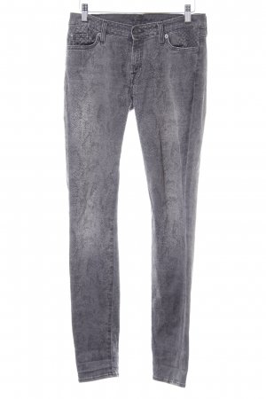 7 For All Mankind Skinny Jeans grau-anthrazit Animalmuster Casual-Look