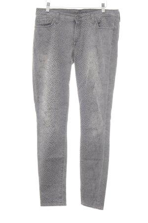 7 For All Mankind Skinny Jeans grau-dunkelgrau Tortoisemuster