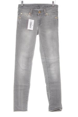 7 For All Mankind Skinny Jeans grau-hellgrau Casual-Look