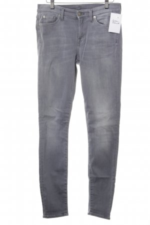 7 For All Mankind Skinny Jeans grau Logo-Applikation