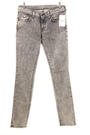 7 For All Mankind Skinny Jeans grau meliert