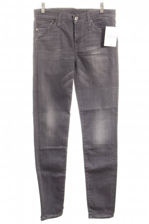 7 For All Mankind Skinny Jeans grey simple style