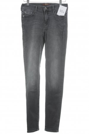 7 For All Mankind Skinny Jeans grau-silberfarben Casual-Look