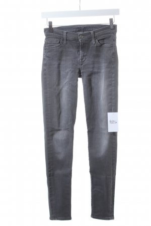 7 For All Mankind Skinny Jeans grau Street-Fashion-Look
